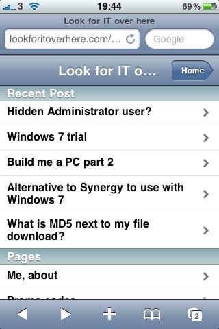 Look site iPhone