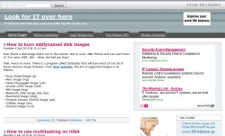 Old site layout before Socrates WordPress theme
