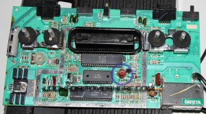 Atari 2600 black edition circuit board heat shield off - LookForITOverHere.com