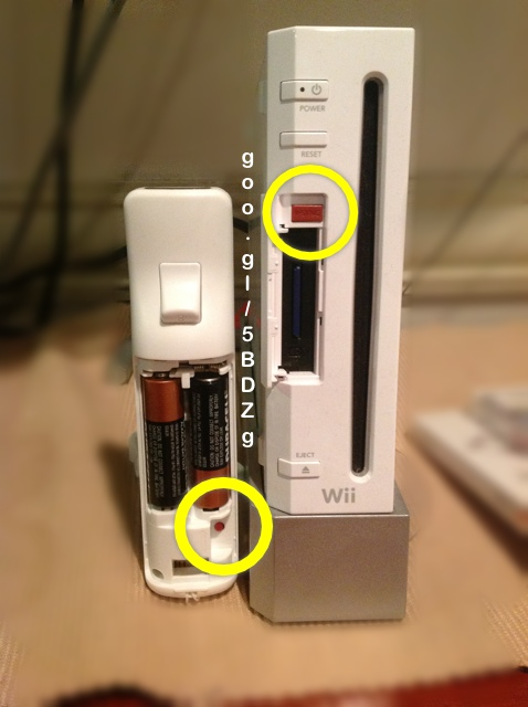 Wii sync button locations