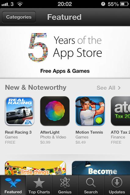 app store 5 years